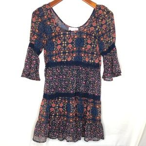 Band of Gypsies Dresses - Band of Gypsies tiered boho babydoll dress/ S